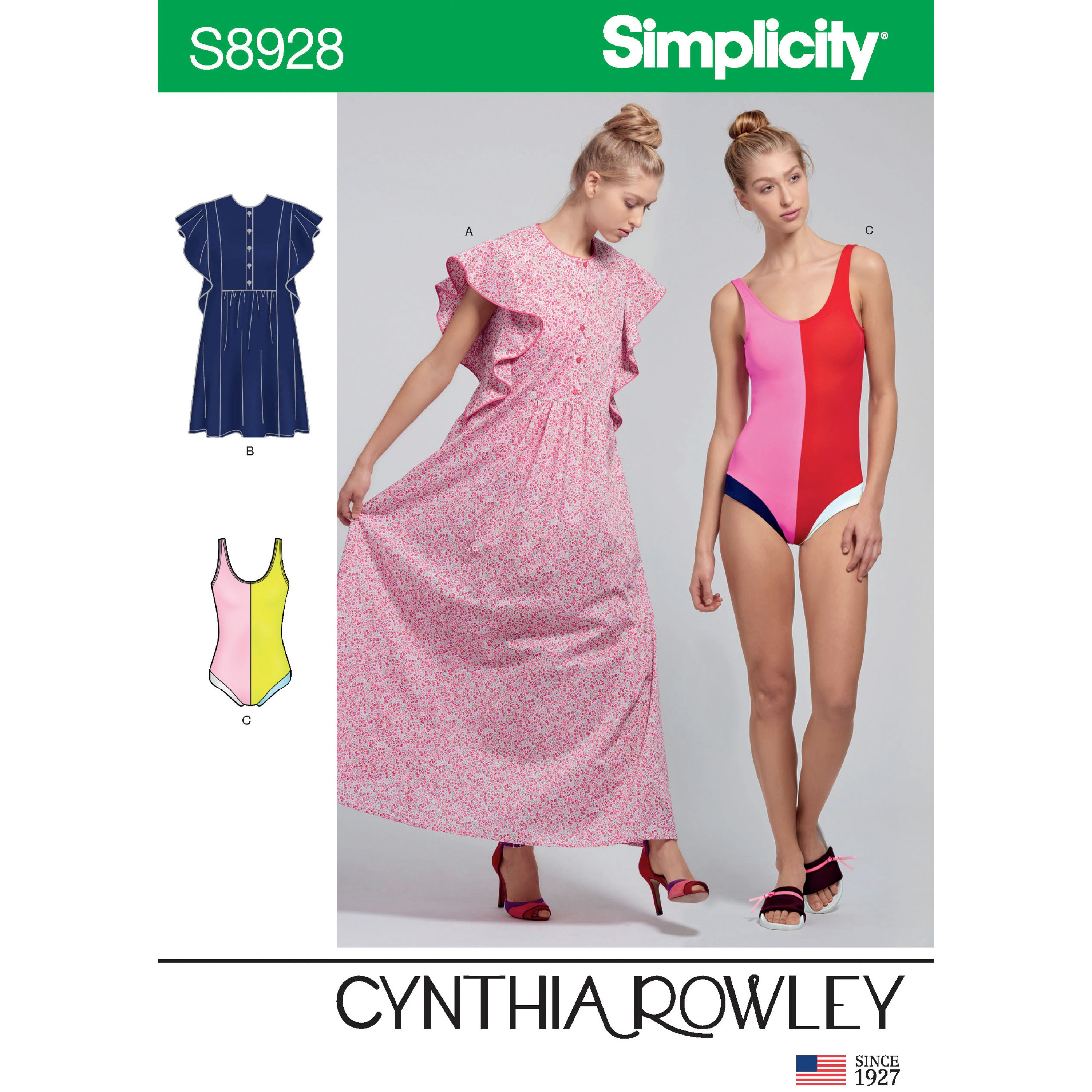 Simplicity Sewing Pattern 8928 Misses' Swimsuit & Caftans by Cynthia Rowley