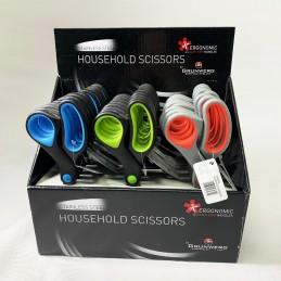 Grunwerg 1 Pair Of 20cm Household Scissors Stainless Steel Safe-Grip Handles