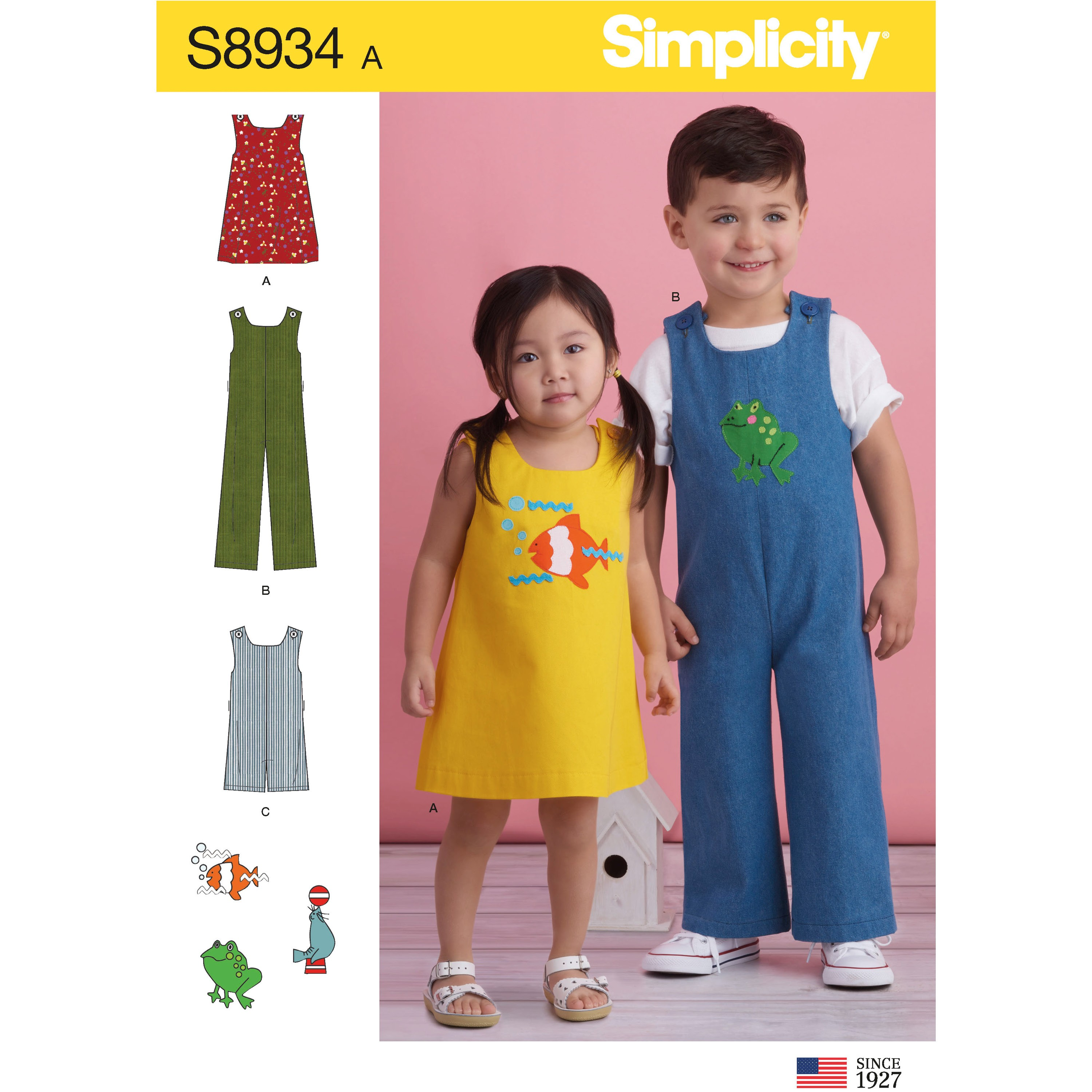 Simplicity Sewing Pattern 8934 Toddler's Jumper, Jumpsuit, and Romper