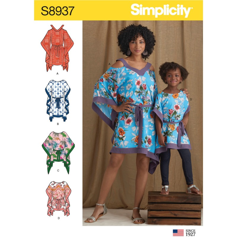 Simplicity Sewing Pattern 8937 Children's and Misses' Caftans