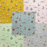 Cotton Rich Linen Look Fabric Curtain Upholstery Shabby Geese Goose Ducks