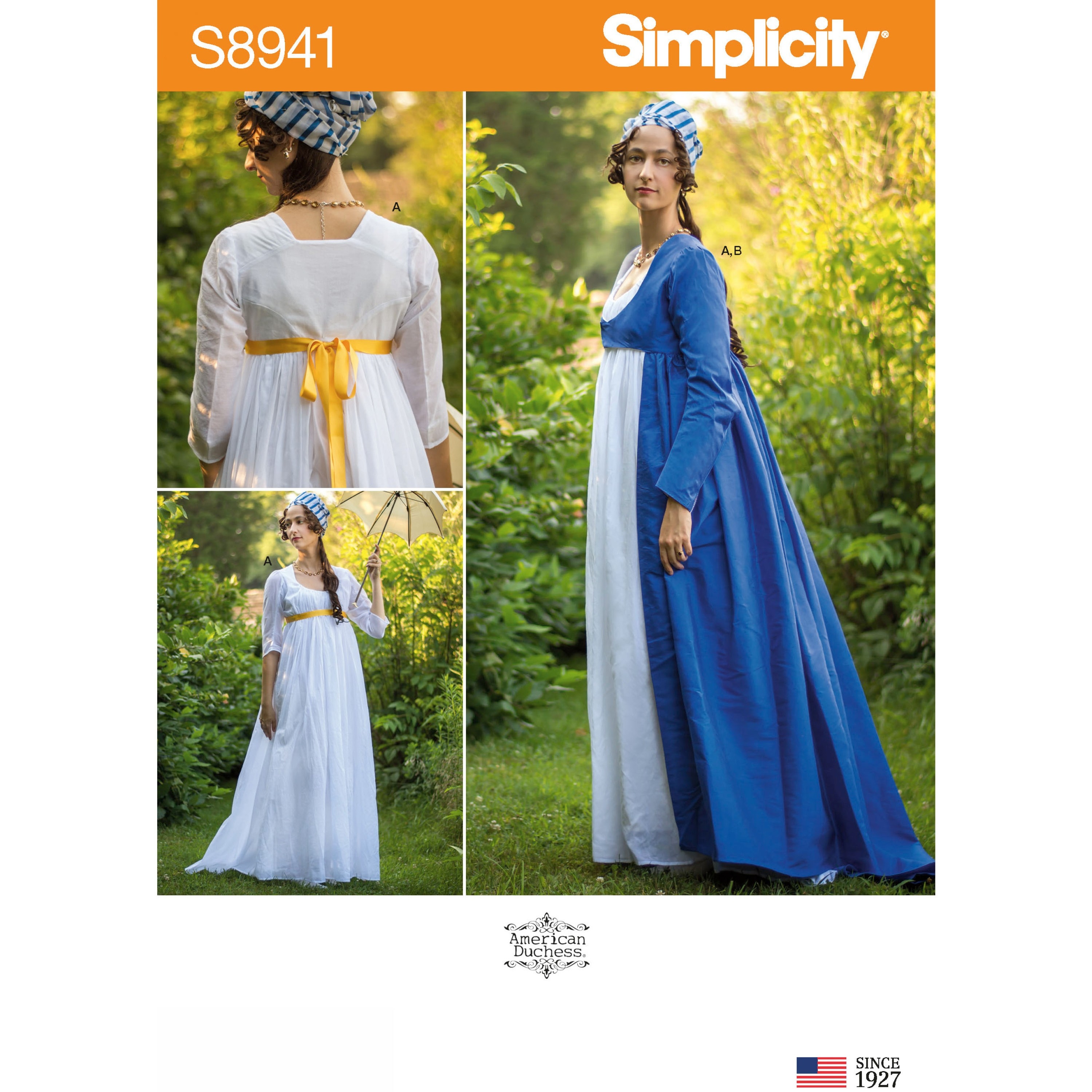 Simplicity Sewing Pattern 8941 Misses' High Waisted Costume Dress with Sleeves