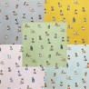 Cotton Rich Linen Look Fabric Curtain Upholstery Playful Shabby Dogs Puppies