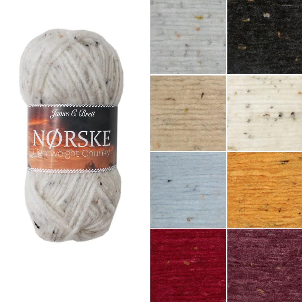 James C Brett Norske Chunky Acrylic Wool Yarn Knitting Crochet Craft NK01