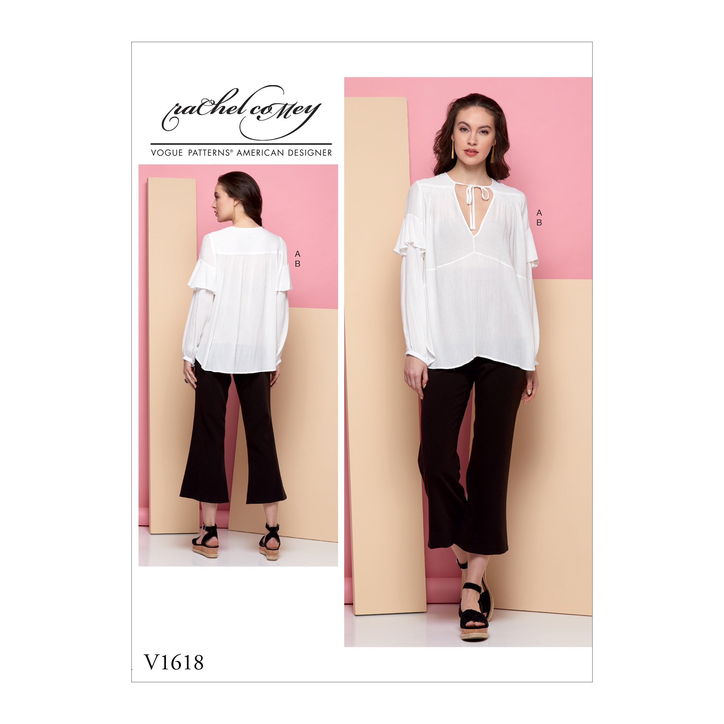 Vogue Sewing Pattern V1618 Pullover Loose Fit Blouse Shirt Tunic and Trousers