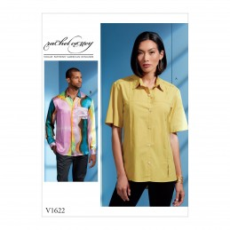 Vogue Sewing Pattern V1622 Unisex Button Shirt Men's Women's Blouse