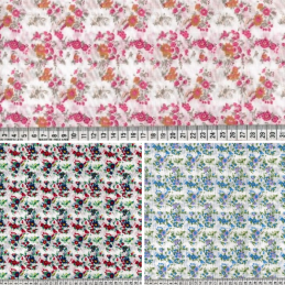 Polycotton Fabric Gemini Park Floral Flower Vines Leaves