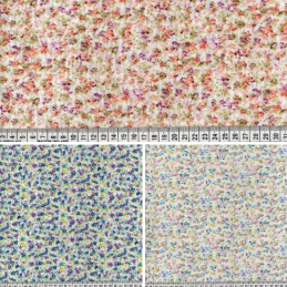 Polycotton Fabric Rose Ditsy Floral Flowers Scents Of Heaven