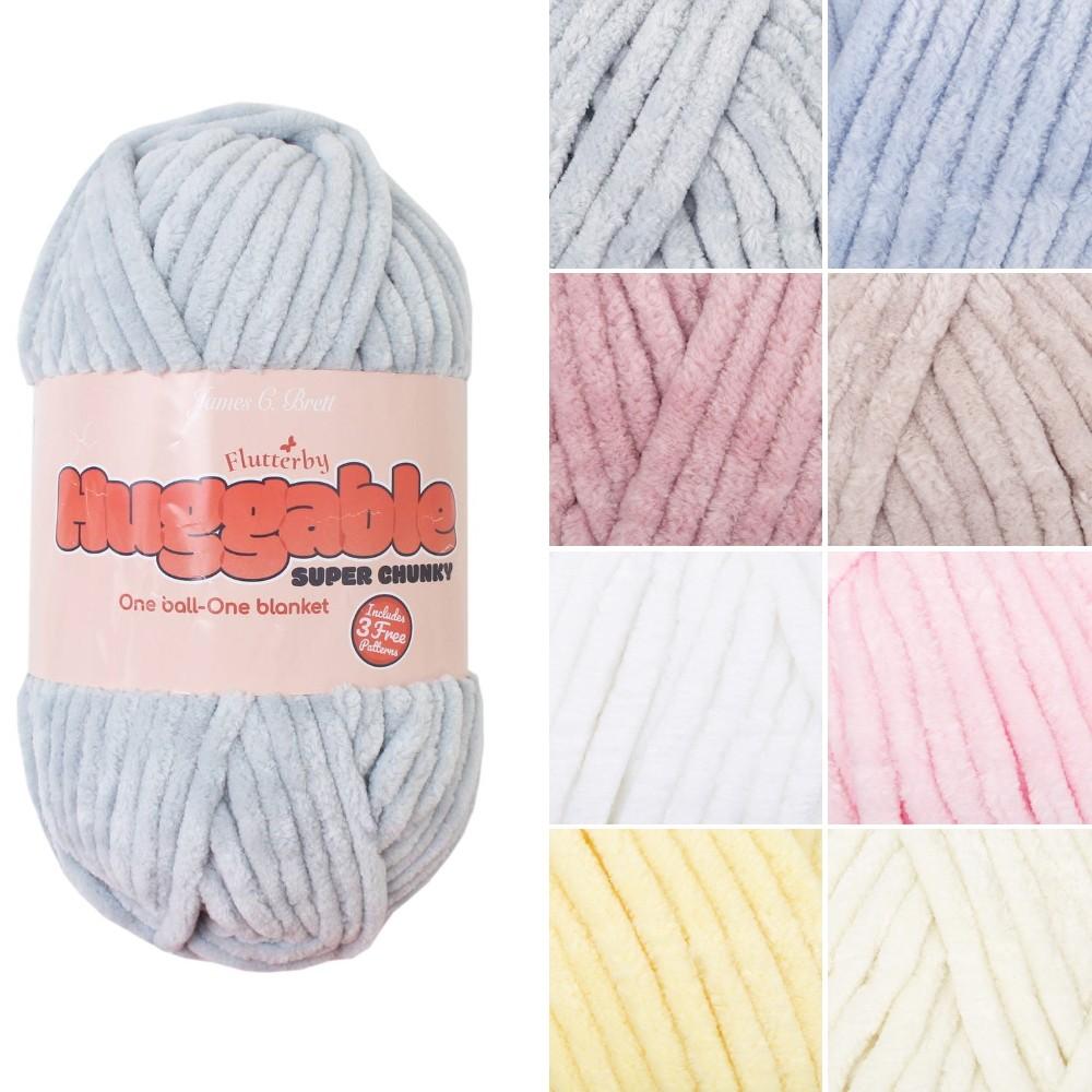 James C Brett Huggable Super Chunky Polyester Yarn Knitting Crochet Craft UG01