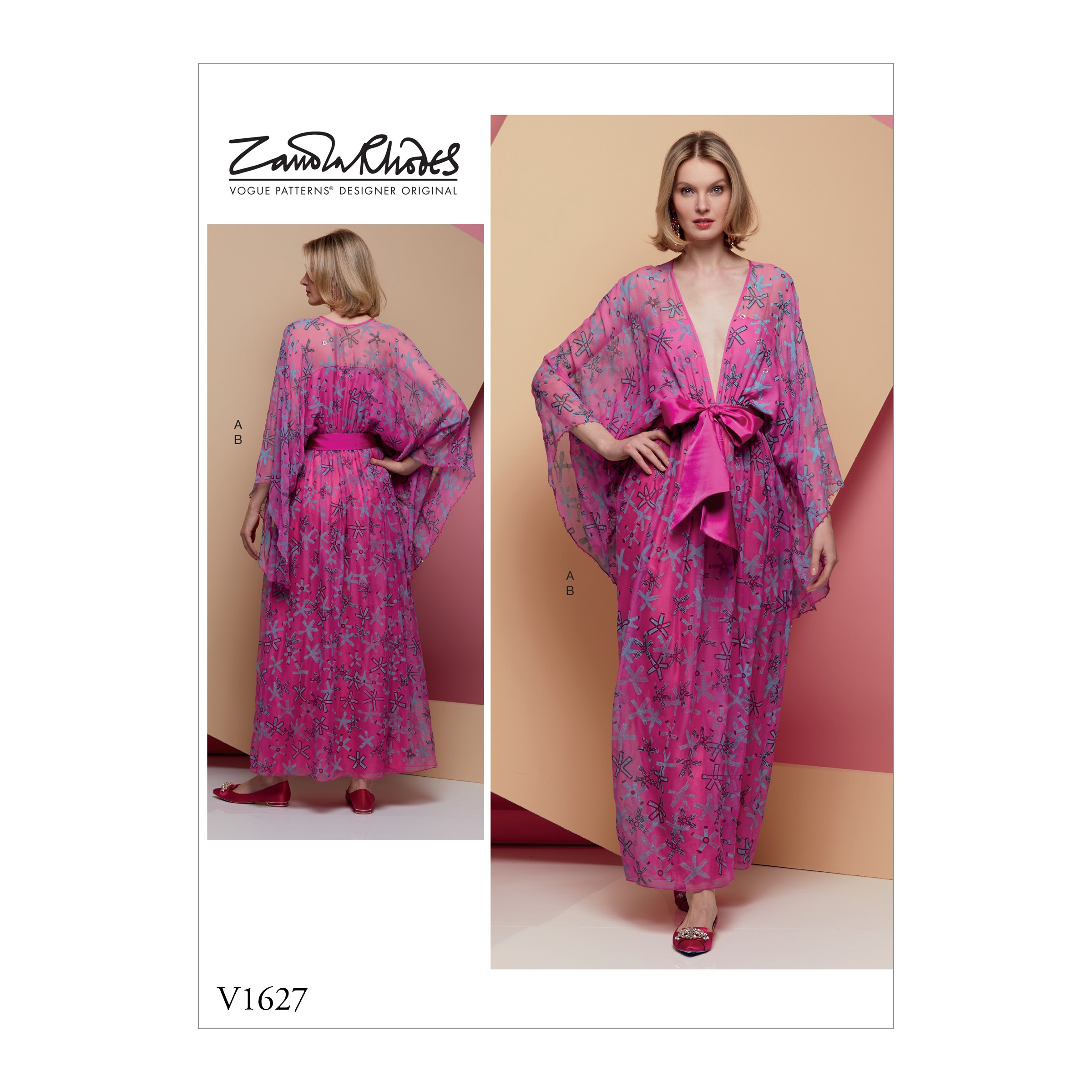 Vogue Sewing Pattern V1627 Women's Pullover Maxi Dress Loose fit Kimono Sleeve