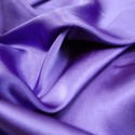 Purple Plain Stretch Satin Fabric Material Polyester Spandex Mix