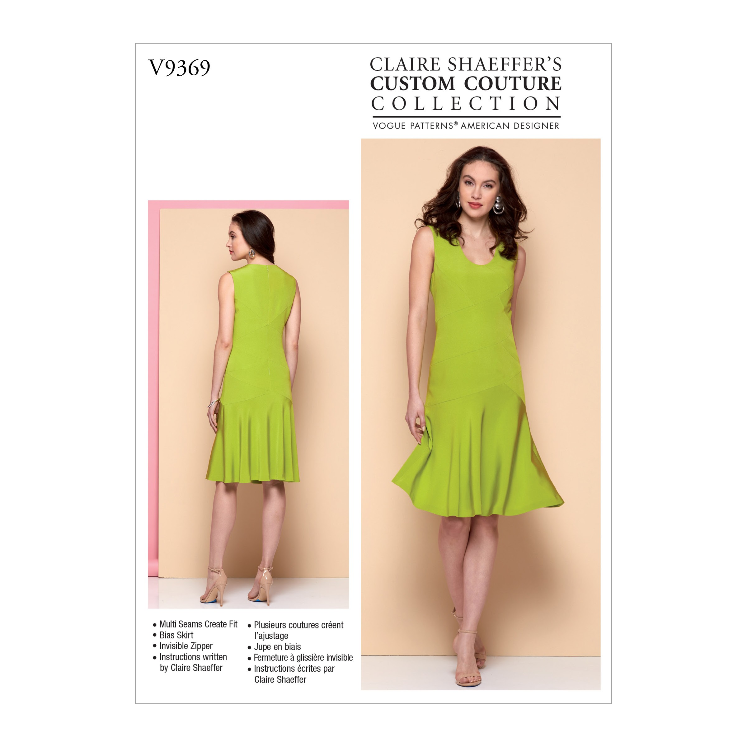 Vogue Sewing Pattern V9369 Women's Seam Detail Dress with Flare Hem