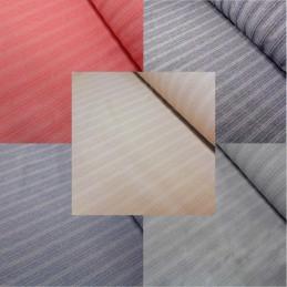 Striped Melange Linen Look Dressmaking Curtains 145cm Wide Polyester Fabric