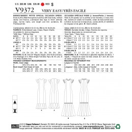 Vogue Sewing Pattern V9372 Women's Fitted Dress with Flared Sleeves