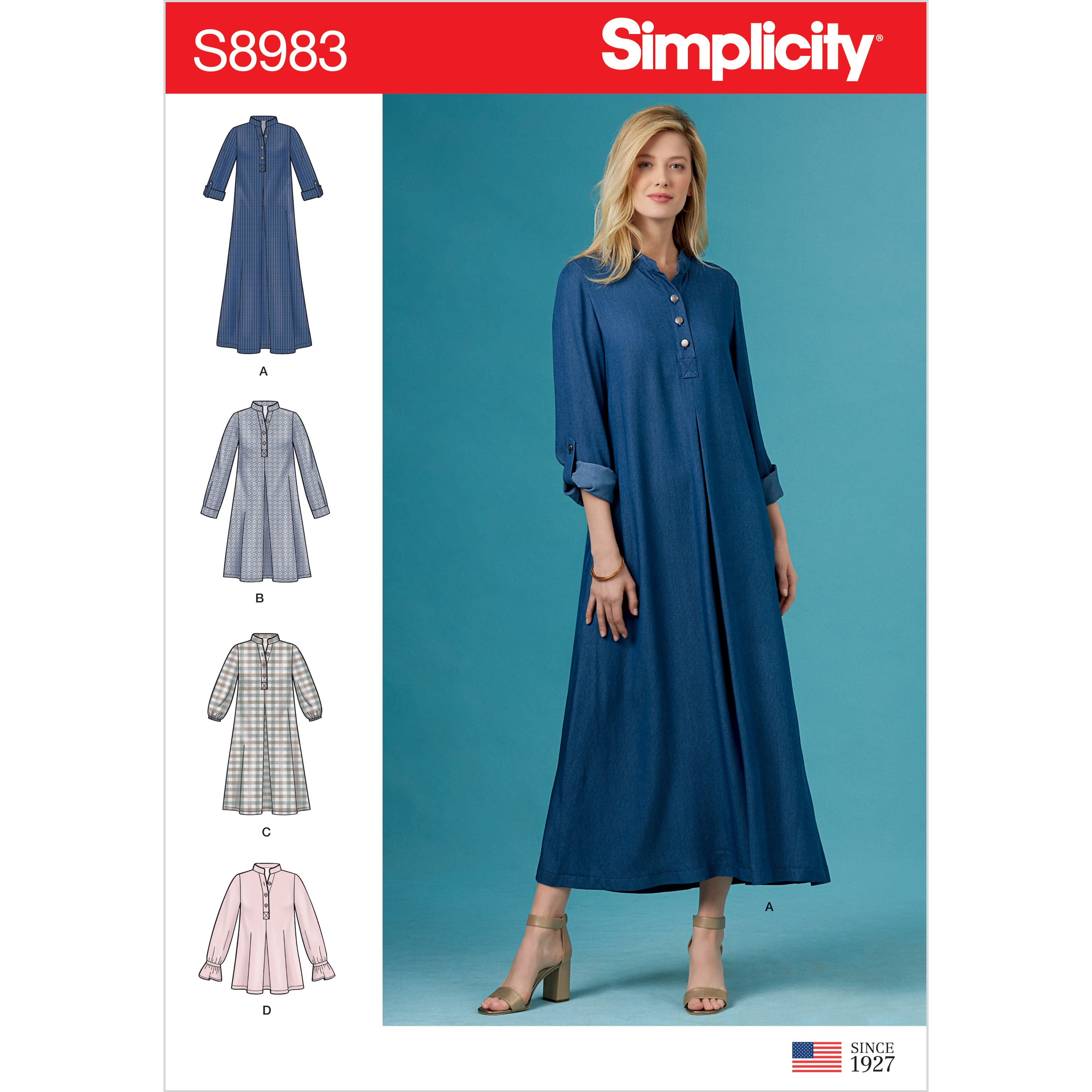 Simplicity Sewing Pattern 8983 Misses' Dresses With Sleeve Variation