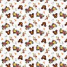 100% Cotton Fabric Springs Creative Mickey Mouse Track Racing Champion