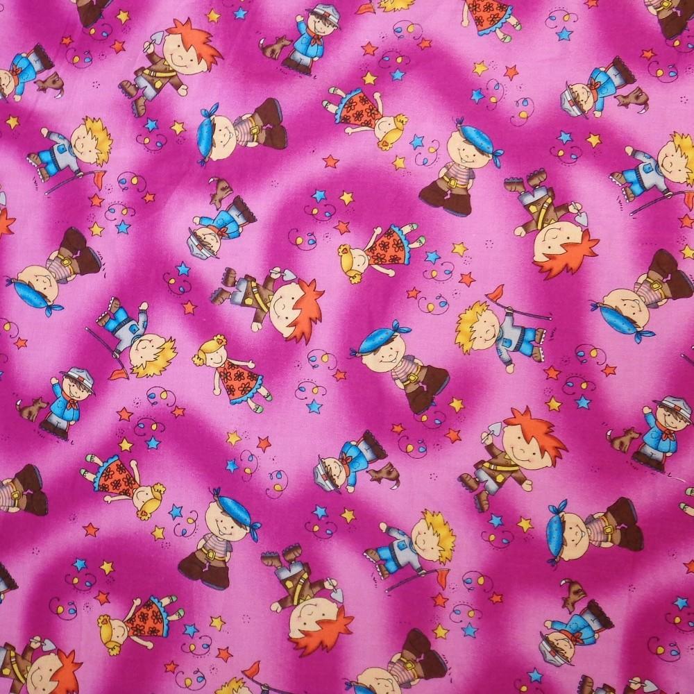 100% Cotton Fabric Children Future Jobs Pirate Astronaut Ranger 148cm Wide