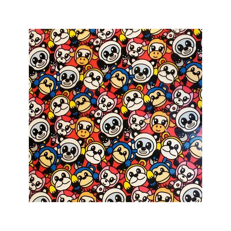100% P.U. Water Proof Animated Animal Panda Monkey Cow Protective Cover 137cm Wide