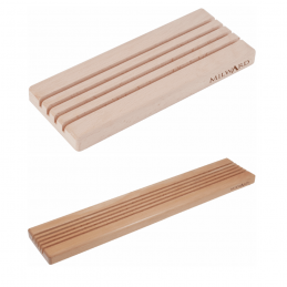 Milward Wooden 4 or 5 Slots Ruler Rack Durable Beech Wood