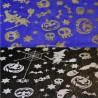 Polyester Silver & Gold Foil Halloween Spiders Pumpkin Skulls Bats Candy Stars Owls