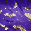 Polyester Silver & Gold Foil Halloween Bats Spooky Metallic