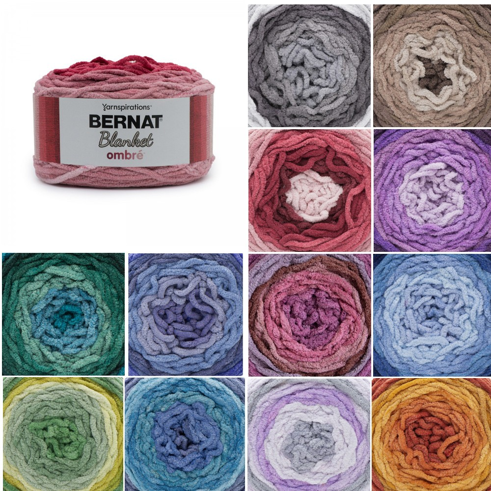 Burgundy Ombre Bernat Blanket Ombre Super Chunky Yarn Polyester Knit Knitting Crochet Crafts 300g Ball