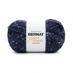 Blue Bernat 300g Softee Chunky Tweed Yarn Acrylic Viscose Mix