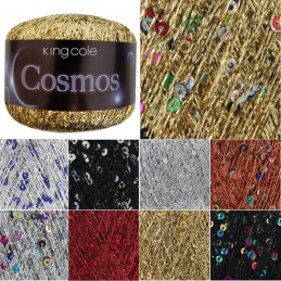 King Cole 25g Metallic Cosmos Glitter Knitting Yarn Wool Sparkle Sequin