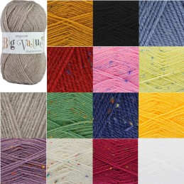 King Cole Big Value DK Wool Yarn 100% Premium Acrylic Weight 100g