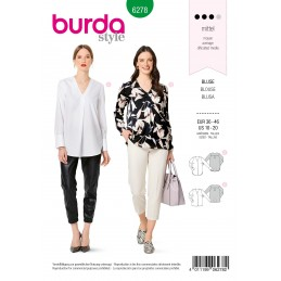 Burda Sewing Pattern 6278 Women's Pull on Blouses in Two Lengths
