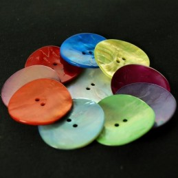 34mm Sea Shell Buttons Coat Pearl Dress Clothing
