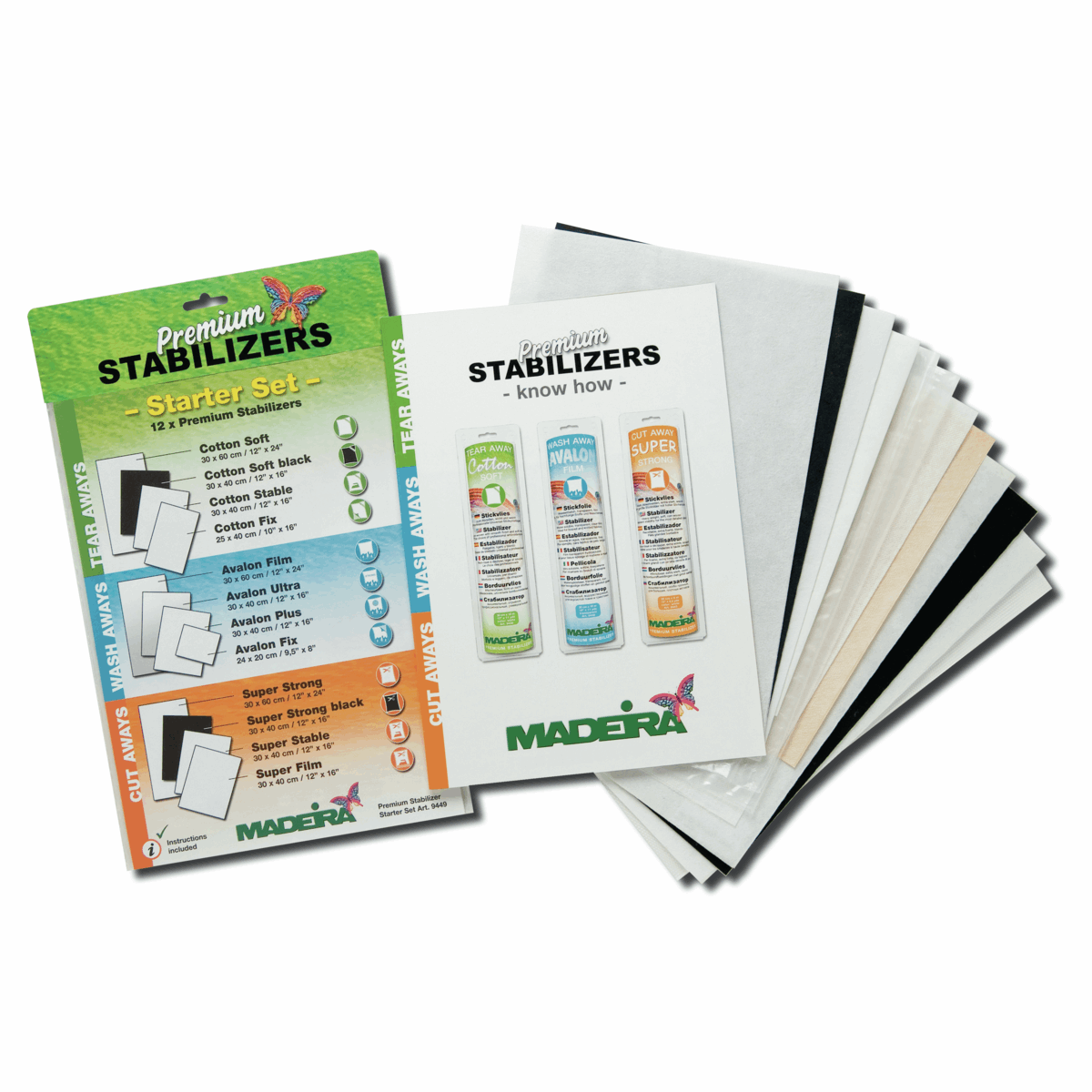 Madeira Stabilizer Starter Kit 12 Assorted