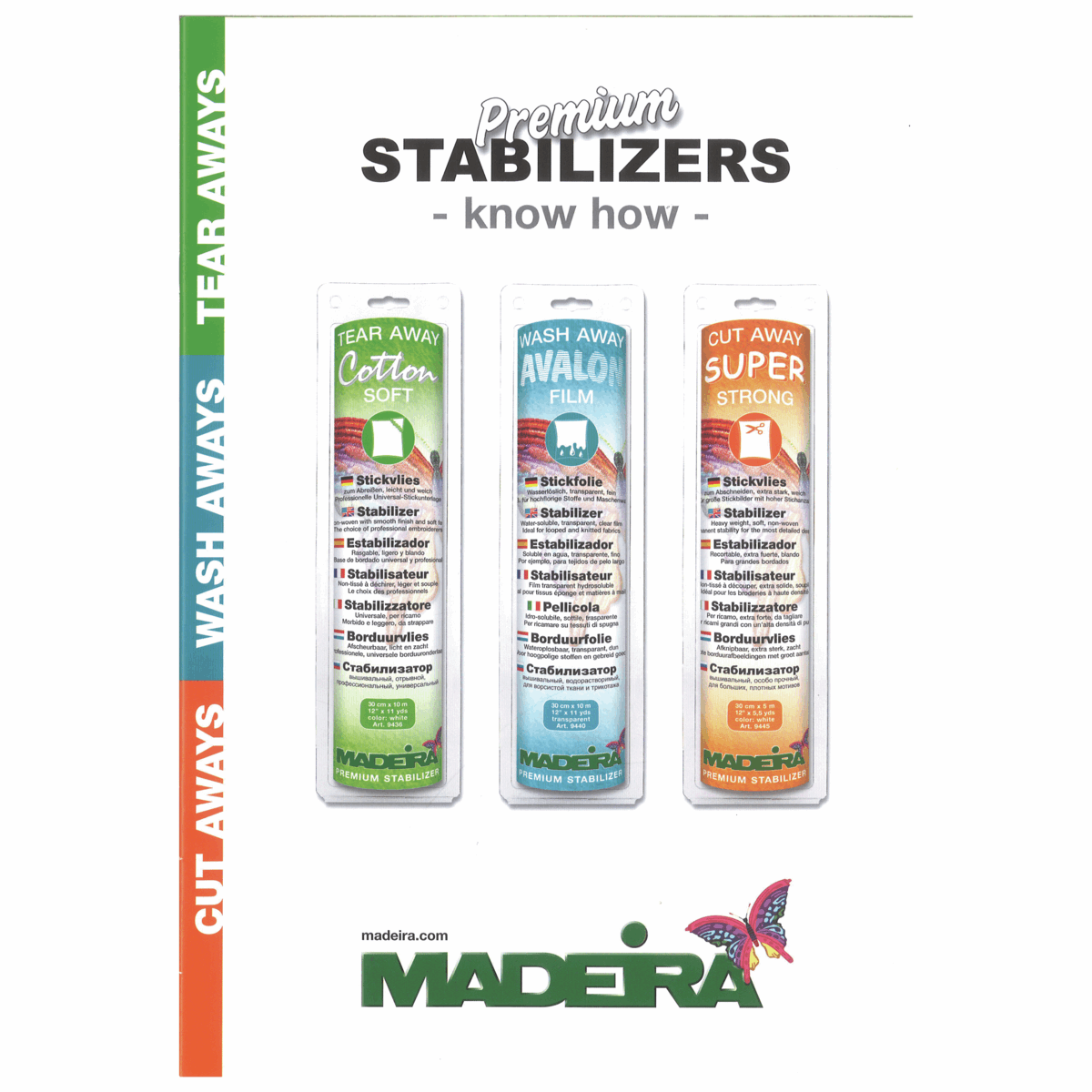 Madeira Premium Stabilizer Know How Brochure Cut,Tear & Wash Away