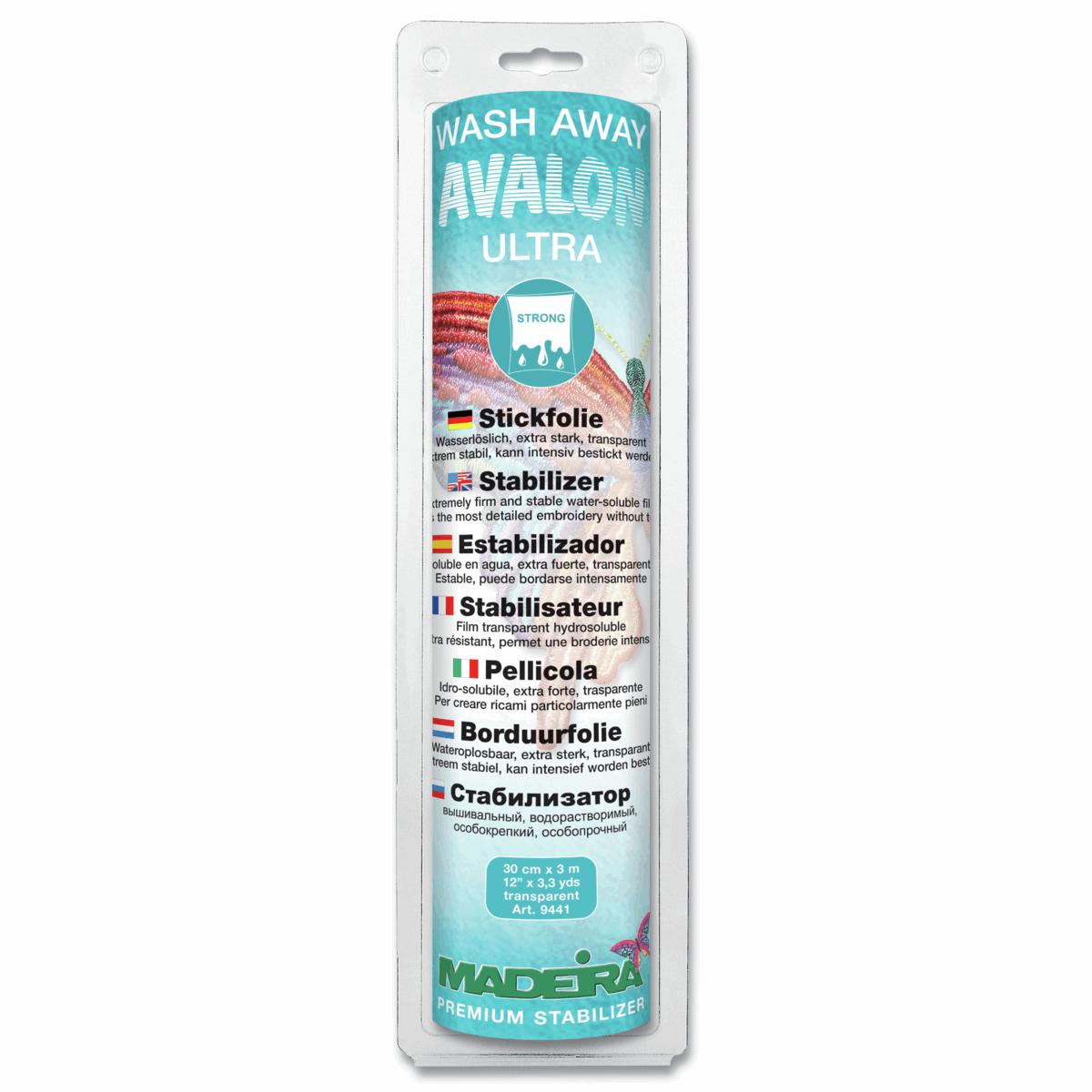 Avalon Fix Madeira Stabilizer: Wash-Away: Avalon Fix,Plus,Ultra or Film