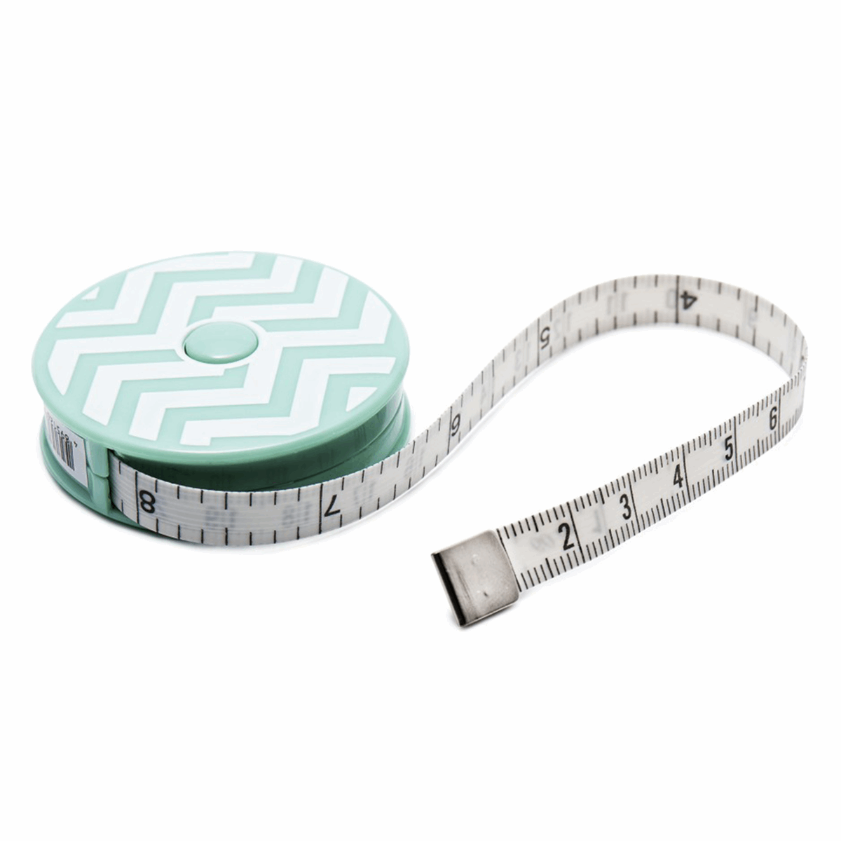 "Tape Measure 150cm/60"" Retractable Chevron Green"