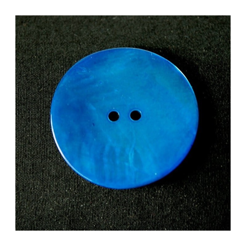 Blue 34mm Sea Shell Buttons Coat Pearl Dress Clothing