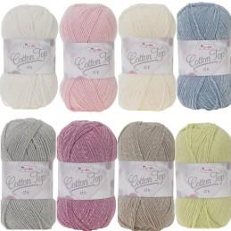 King Cole Cotton Top DK Knitting Yarn Wool 100g Ball Double Knit