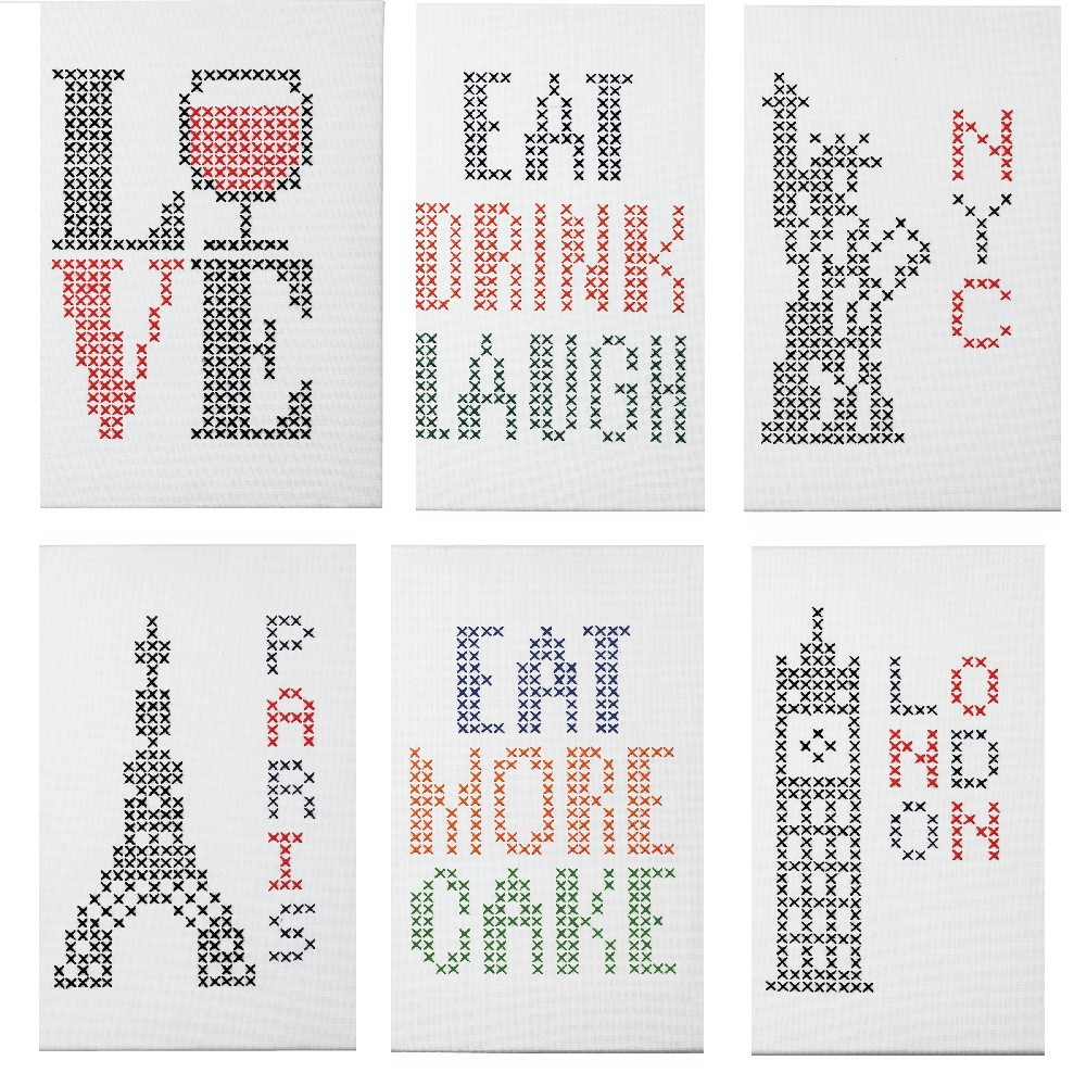 Eat Drink Laugh Anchor Cross Stitch Kit: Wooden: Big & Easy Cities, Food Or Drink