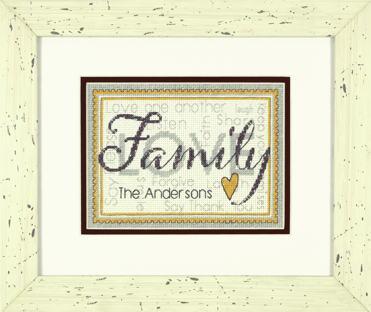 Dimensions Counted Cross Stitch Kit Family 17 x 12cm