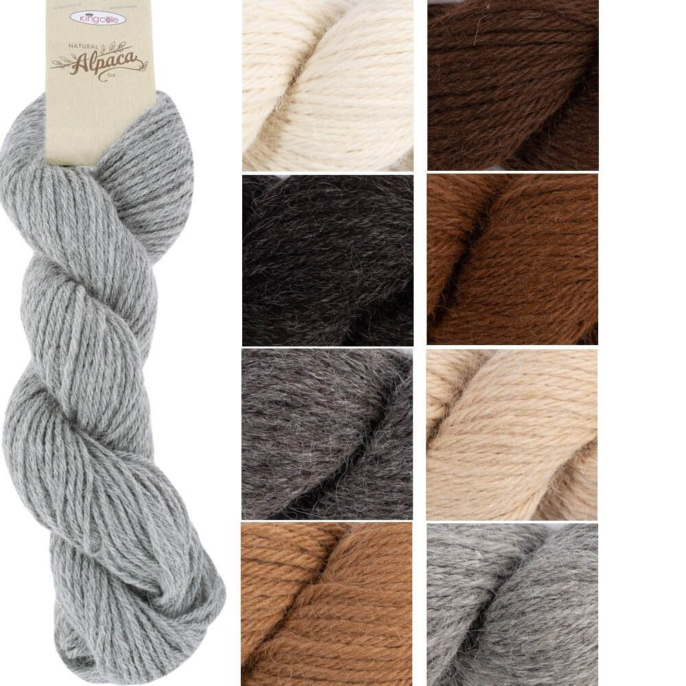Cream King Cole Natural Alpaca DK Knitting Yarn Double Knit 50g