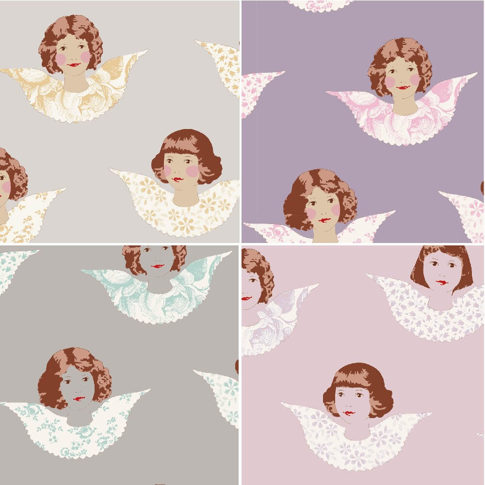 Blush 100% Cotton Fabric Tilda Angel Scraps Patchwork Quilting