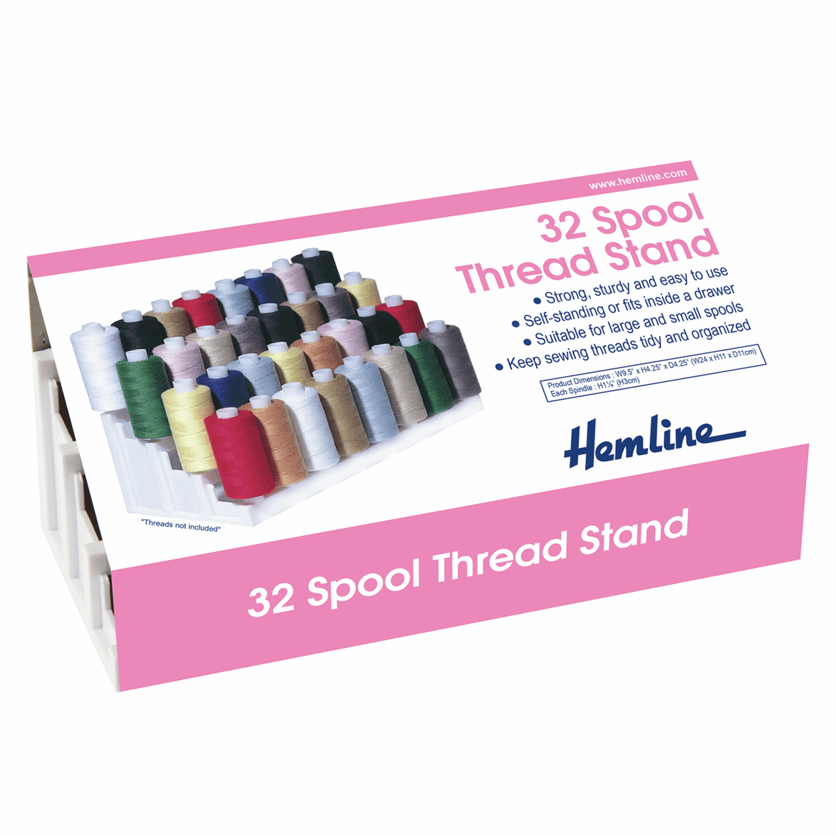 Hemline 32 Spool Rack Thread Stand Large & Small Spools