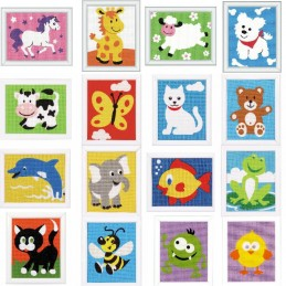 Vervaco Tapestry Kit Beginners Zoo Animals Dog Cat Bee Frog Sheep