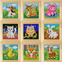 Orchidea Needlepoint Tapestry Kit Wooden Frame Beginners Animals Dog Cat Duck