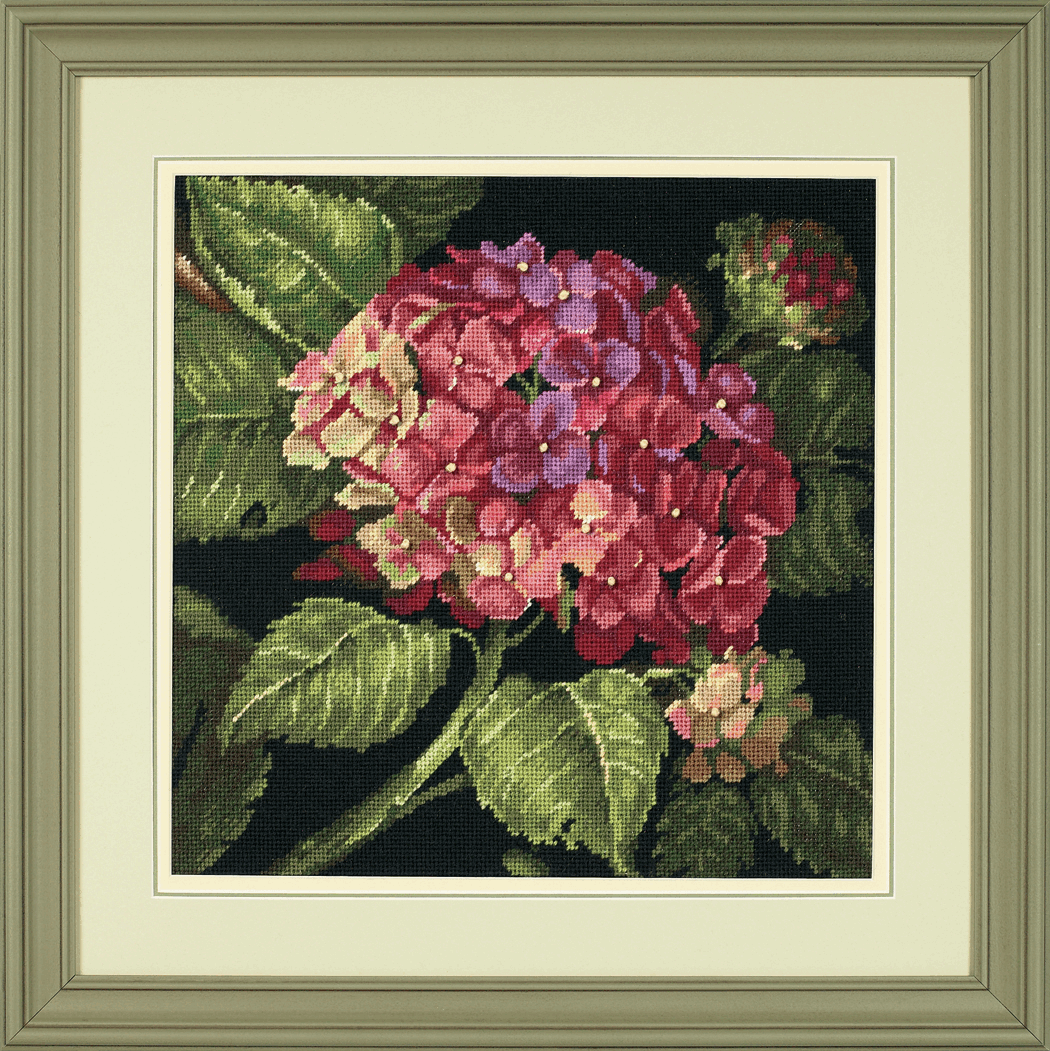 Dimensions Needlepoint Tapestry Kit Hydrangea Bloom Floral