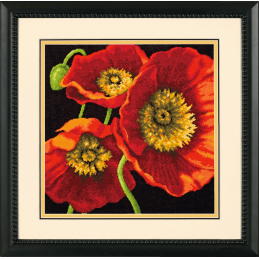 Dimensions Needlepoint Tapestry Kit Red Poppy Trio Poppies