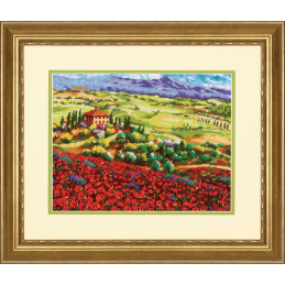 Dimensions Needlepoint Tapestry Kit Tuscan Poppies Fileds Poppy