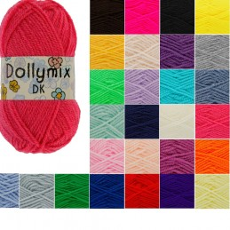 King Cole Dollymix DK Knitting Yarn 25g Acrylic Crochet