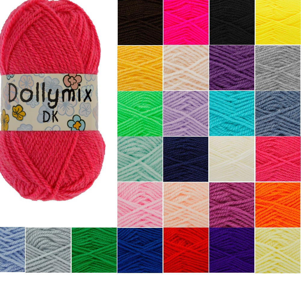 Kingfisher King Cole Dollymix DK Knitting Yarn 25g Acrylic Crochet