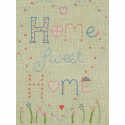 Home Sweet Home Anchor Embroidery Kit Starter Wedding Cupcakes Birdcage Keys Home Sweet Home
